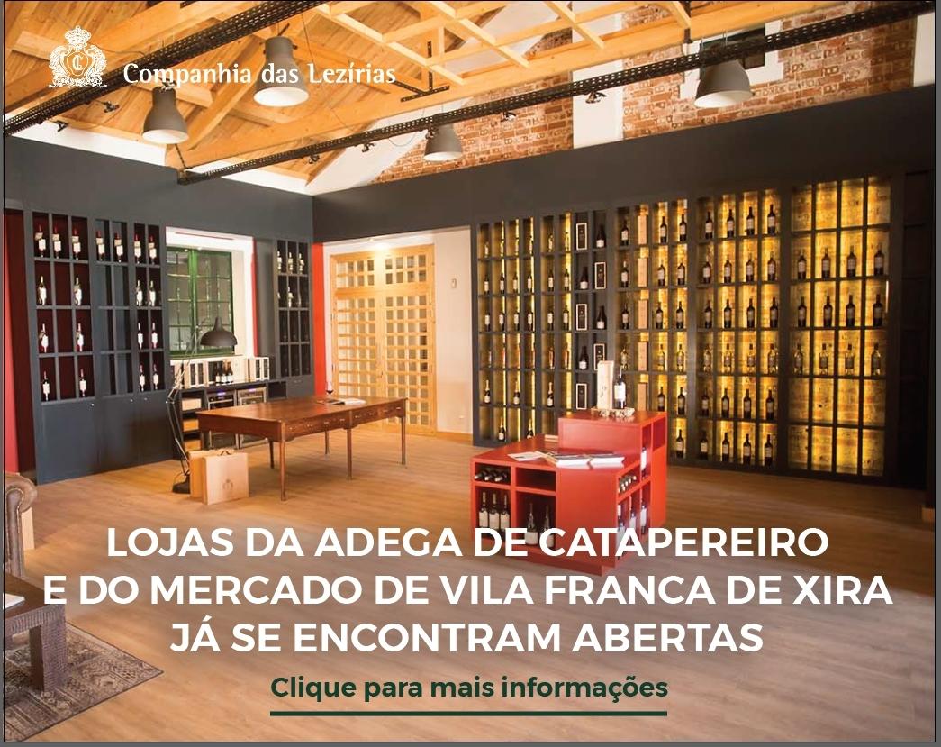 Lojas Adega de Catapereiro e do Mercado de Vila Franca de Xira já se encontram abertas